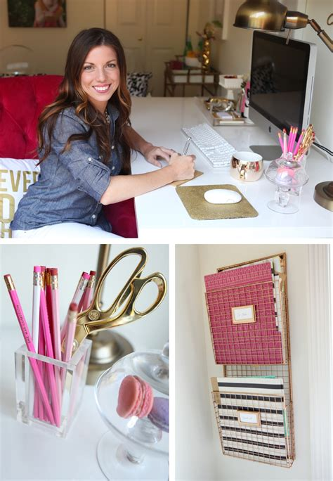 white and gold office my black white gold magenta office reveal how i