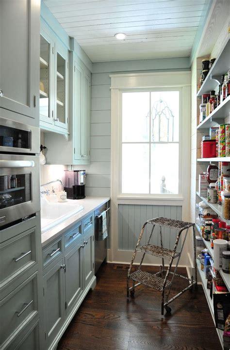 galley kitchen  pantry farmhouse style small kitchen