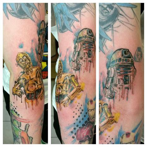 r2d2 c3po simply tattoo