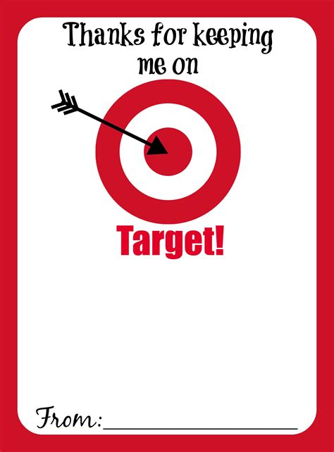 Target Gift Card Ideas - thanks for keeping me on target free printable gift card holder mama cheaps