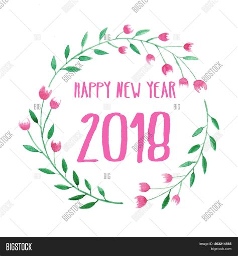 new year flower fair 2018 happy new year 2018 on image photo bigstock