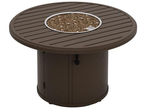 Tropitone Banchetto Aluminum 42 Round Fire Pit Table Tropitone Pit