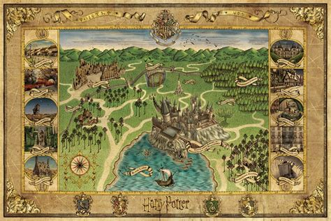 harry potter map nerdovore world maps harry potter