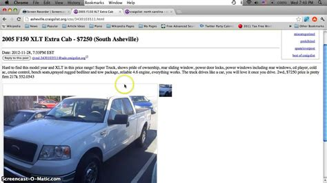 Craigslist Asheville Nc Used Cars For Sale By Owner Affordable Prices Under 1500 In Early Craigslist Car Posting Template