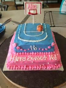 Sweet 16 basketball cake cakes pinterest
