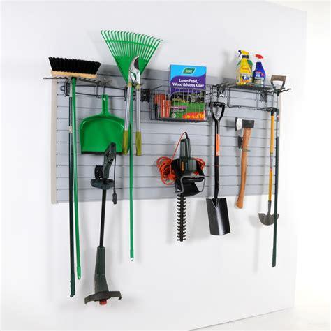 Garage Wall Hook System by Wall Storage Garden Kit Slatwall Hooks Home Garage Ebay