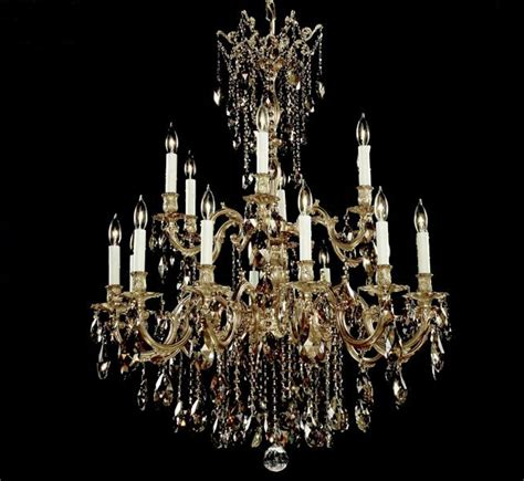Bellagio Collection Large Brass Crystal Chandelier Big Chandeliers