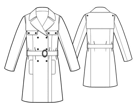 drawing jacket pattern trench coat sewing pattern 5488 made to measure sewing
