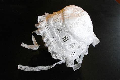 Handmade Baby Bonnets - vintage handmade baby bonnet heavily embroidered