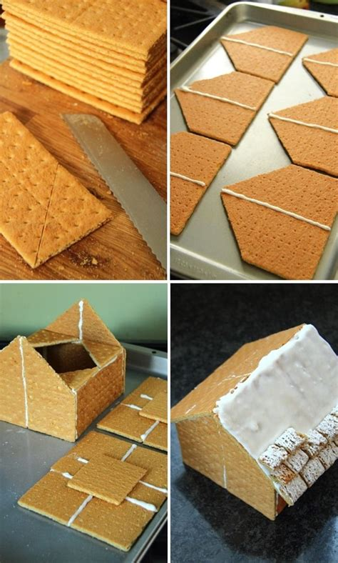 graham cracker house graham cracker gingerbread houses christmas pinterest