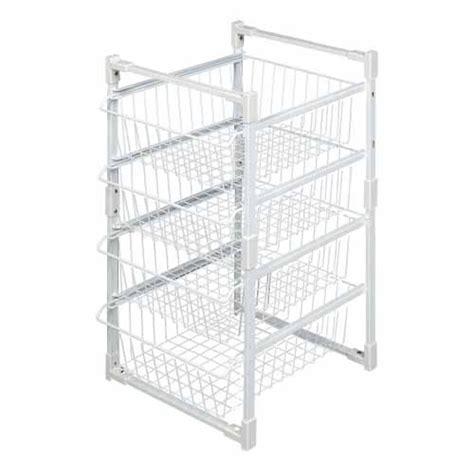 Wardrobe Basket Systems by Storex Basket Storage System Wardrobe Organisers Mitre 10