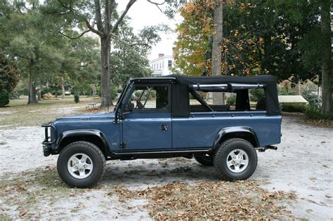 land rover defender 110 convertible frame up restored defender 110 convertible top