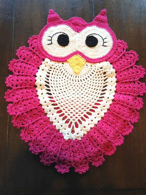 crochet owl rug pattern free beautiful owl rug crochet diagram