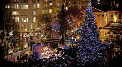 christmas tree lighting downtown portland or tree lighting friday the portland observer