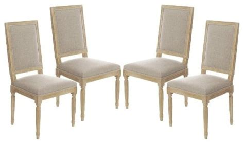 4 Dining Chairs Set Of 4 Vintage Square Upholstered Side Dining Chairs Traditional Dining Chairs By