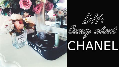 diy chanel tray chanel vase inspired room decor