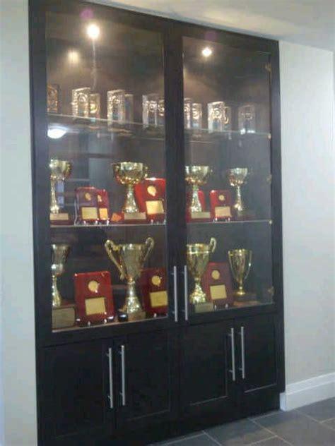 trophy showcase   office  school ideas