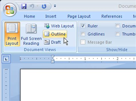 outline view  word  dummies