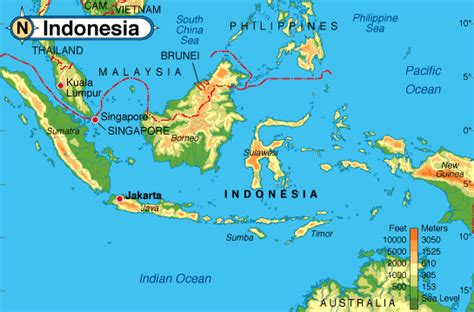 indonesie carte