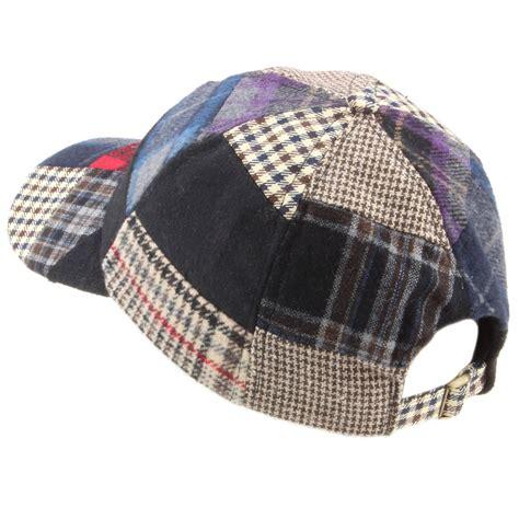 Patchwork Hat - baseball cap hat hawkins tweed patchwork wool one size