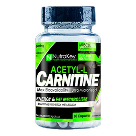 Acetyl L Carnitine Detox by Nutrakey Acetyl L Carnitine 60 Capsules Evitamins