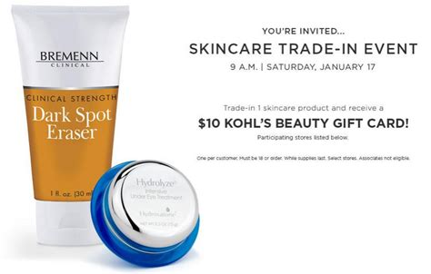 Trade Gift Cards Online - free 10 kohl s beauty gift card trade in event