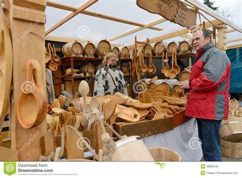 Handmade Show - kaziuko fair on mar 8 2014 in vilnius editorial image