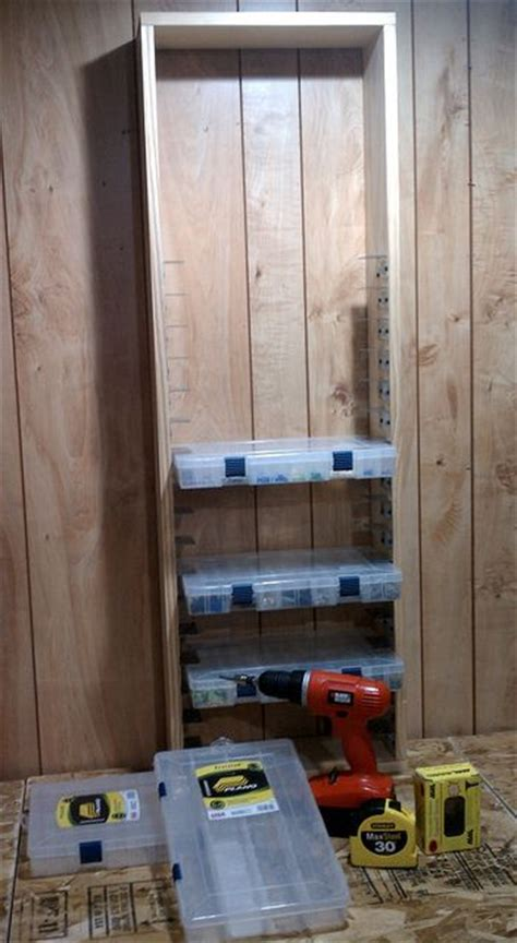 tool organization storage boxes and workshop on