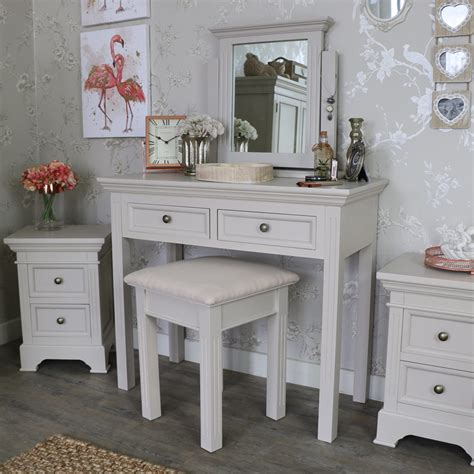 grey mirrored dressing table grey dressing table stool and mirror daventry grey