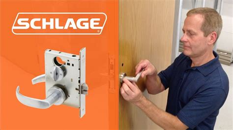 How To Install Schlage L9050 Mortise Lock Youtube Schlage L9050 Template