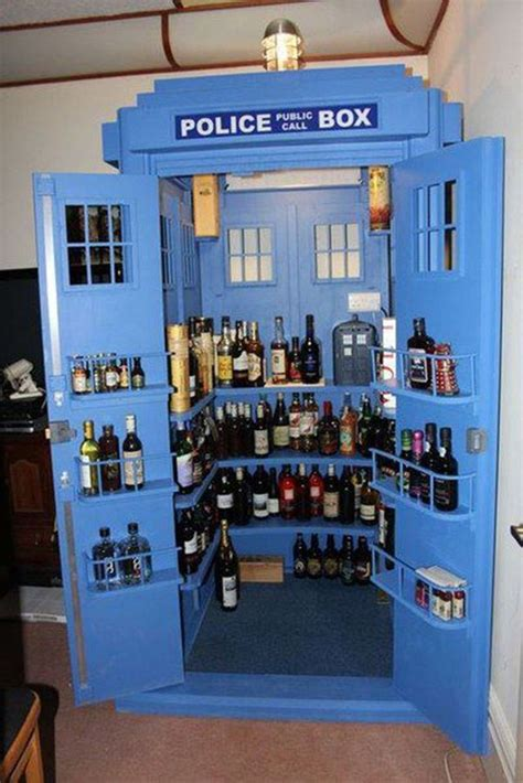 Doctor Who Tardis Bookshelf Fancy A Drink Top 6 Stylish And Unique Liquor Cabinets