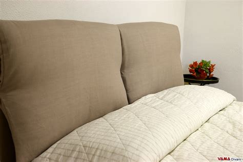 cushion bed headboard fabric bed with two upholstered cushions as headboard