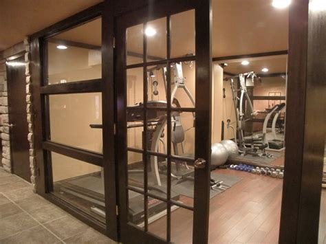 Home Exercise Room Design Layout Basement 1 Traditional Home Gym Cincinnati By
