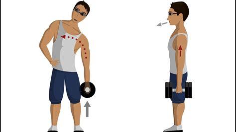 dumbbell side bend abdominal exercises youtube