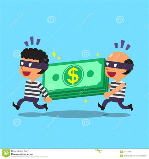 imagenes libres de derchos cartoon thieves stealing money stack stock vector