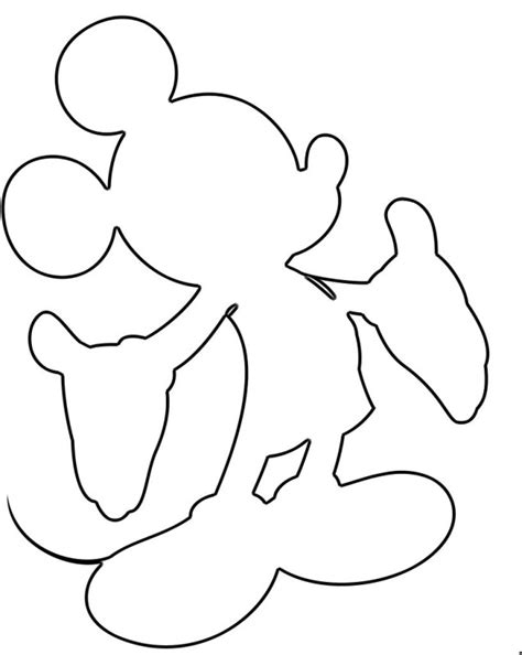 Mickey Mouse Silhouette Template by Kleurplaten On Coloring Pages Kabouter And