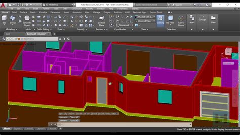 autocad 3d house design 3d house design in autocad 2018 part 2 with special