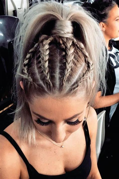braided hair on a track wear these 36 sporty ponytail hairstyles to the gym