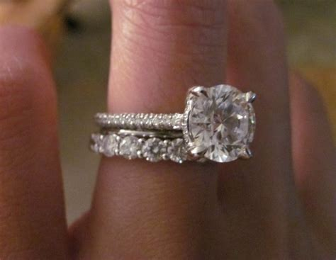 pave engagement ring and band question with pictures