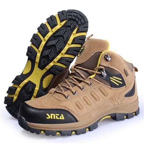 Sepatu Boot Gunung Hiking Trekking Merek Snta 467 Beige jual sepatu gunung di semarang