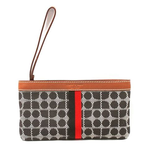 Kate Spade Chrissy Patent Clutch by Kate Spade Zippered Chrissy Classic Noel Chocolate Wrislet