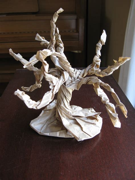 Paper Bag Tree Craft - preschool crafts for earth day 3d paper bag tree