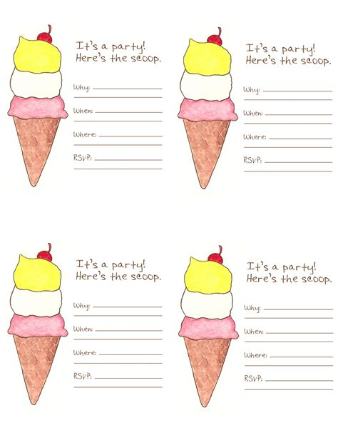 Free Ice Cream Social Graphics Ice Cream Social Friday Freebie Missionettes Icecream Social Invitation Template Free