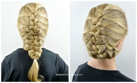 fishbone hair brsids an end off with knots french knotted fishbone braid from babesinhairland com