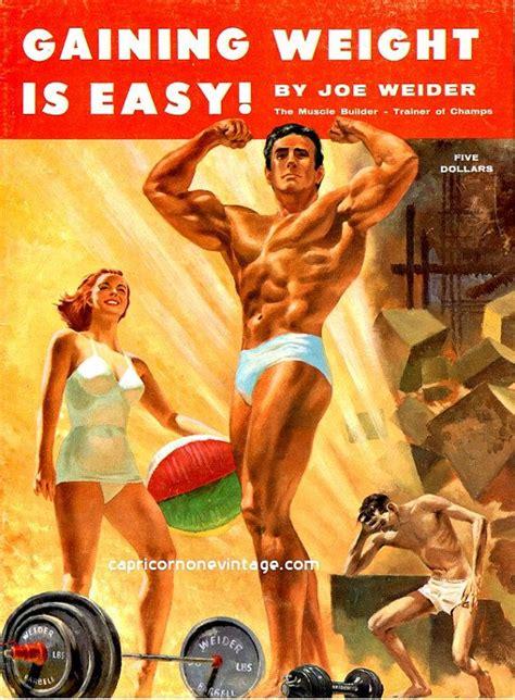 Magazine Gain Weight by Vintage 1958 Joe Weider Magazine Building Gaining