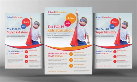 free education flyer templates school education flyer template flyer templates on creative market