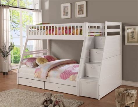 White Bunk Beds With Storage Bunk Beds For Feel The Home