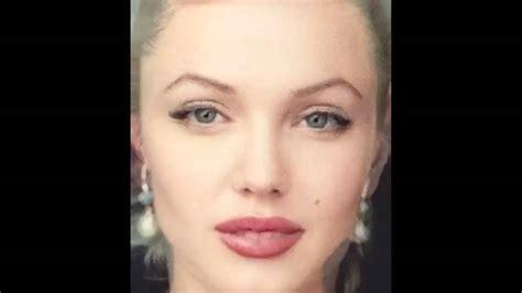 marilyn monroe face angelina jolie marilyn monroe face morph youtube