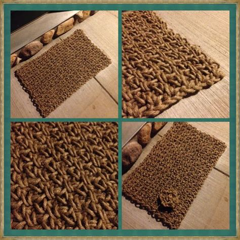 Indoor Outdoor Jute Rug by Indoor Outdoor Crochet Jute Twine Rug I Made Up The Pattern How It Turned Out It Is A