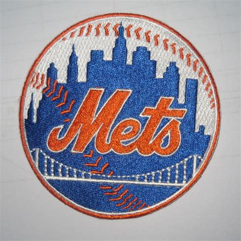 logo embroidery nyc new york mets logo embroidered iron on patch emb mlb nym